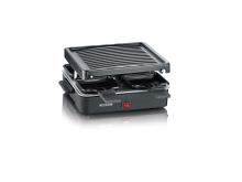 Severin Raclette 4 pers. 600 watt Sort